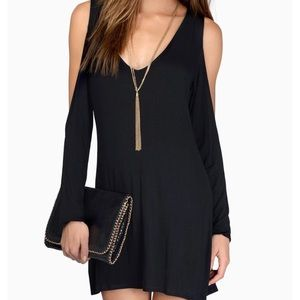 Tobi black long sleeve dress with open sleeves!